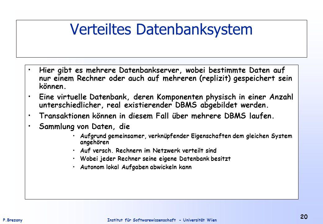 Verteiltes Datenbanksystem