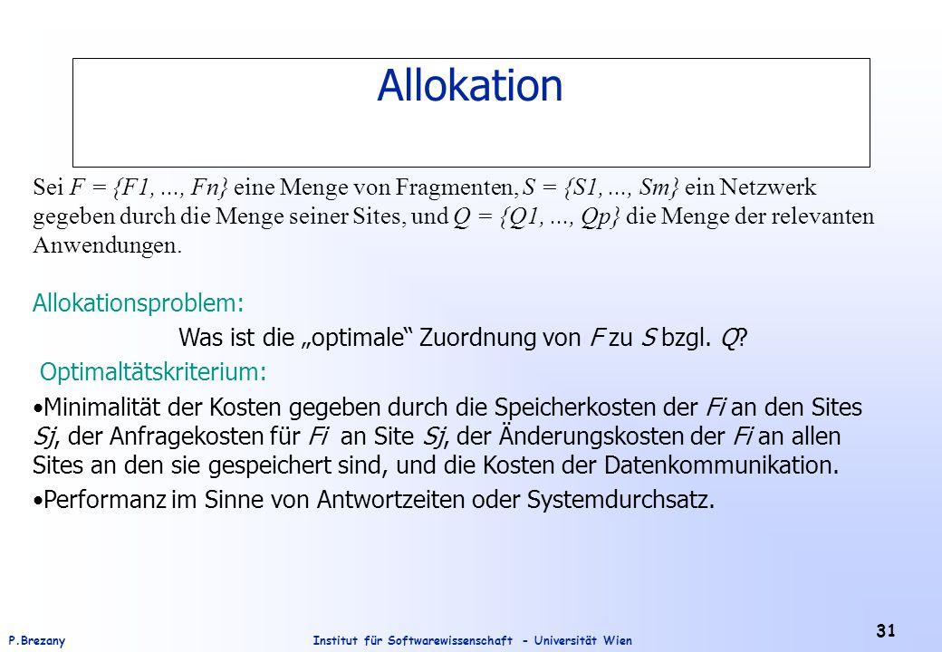 """Was ist die """"optimale Zuordnung von F zu S bzgl. Q"""