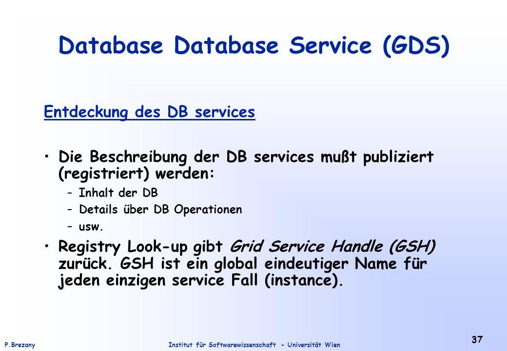 Database Database Service (GDS)