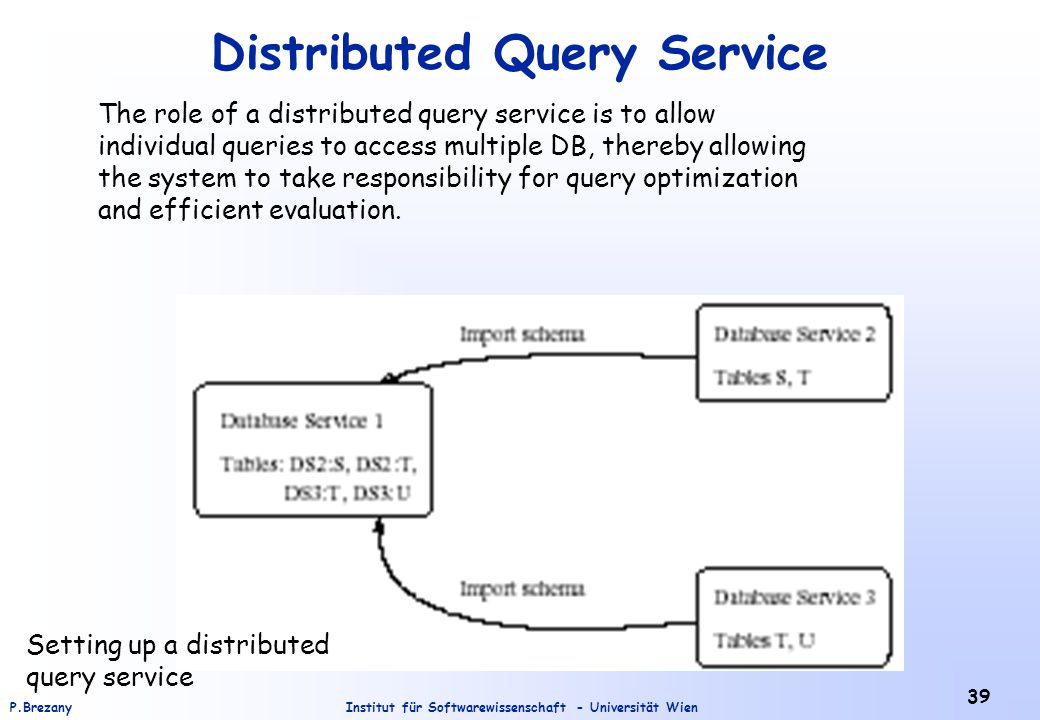 Distributed Query Service