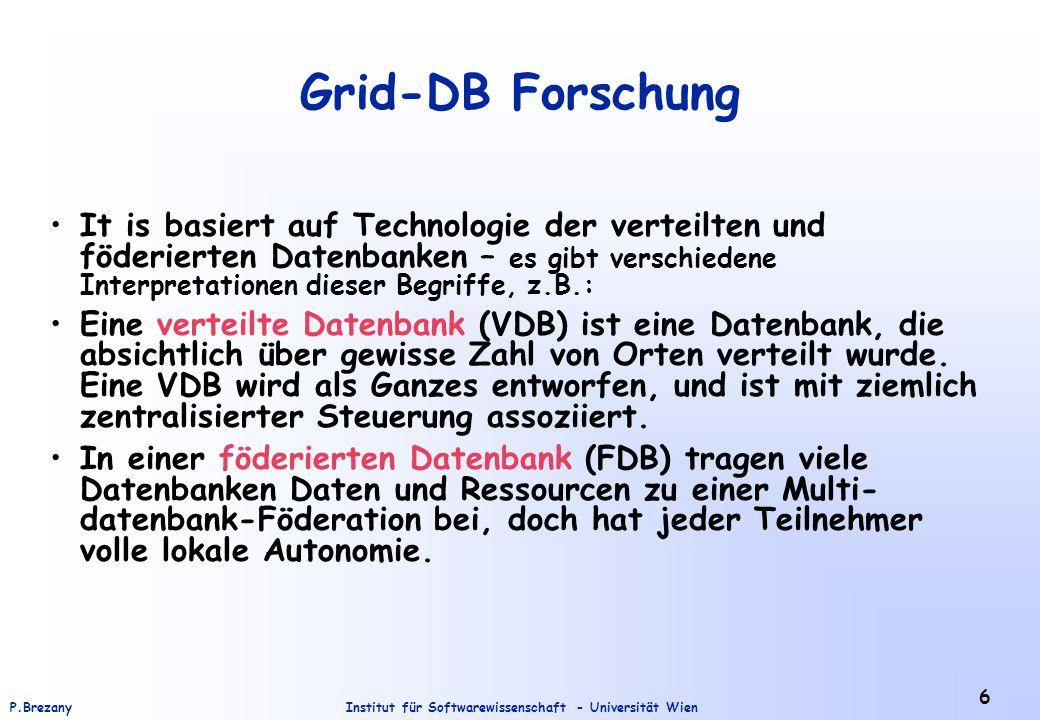 Grid-DB Forschung