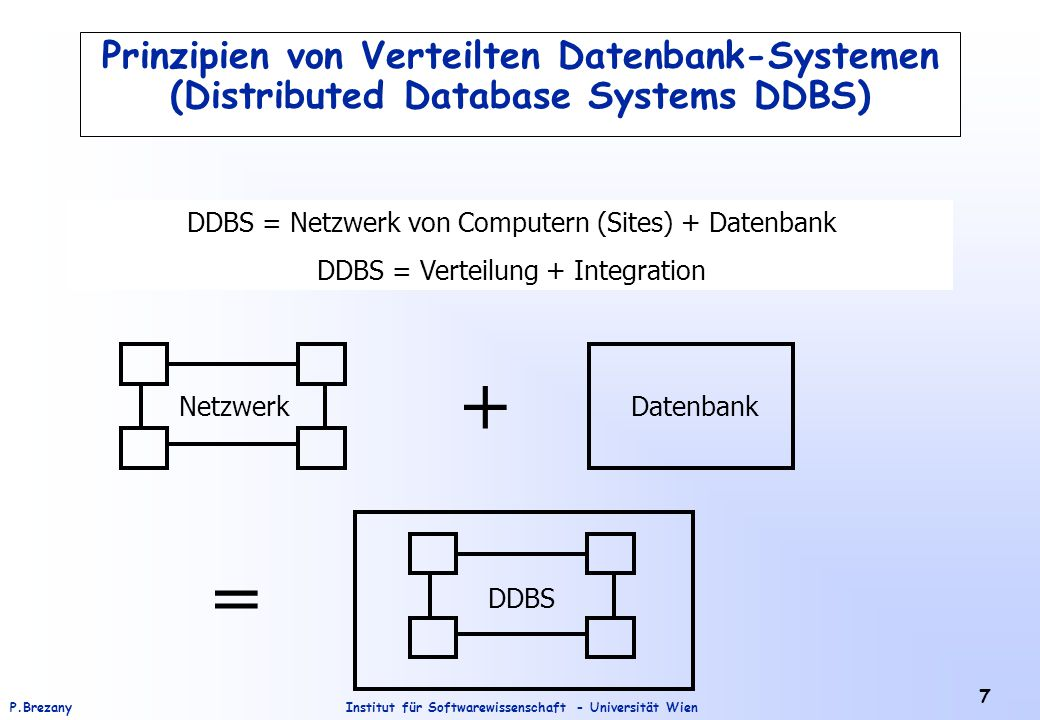 Prinzipien von Verteilten Datenbank-Systemen (Distributed Database Systems DDBS)