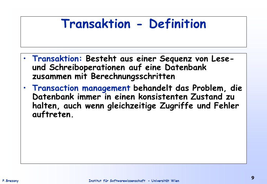 Transaktion - Definition