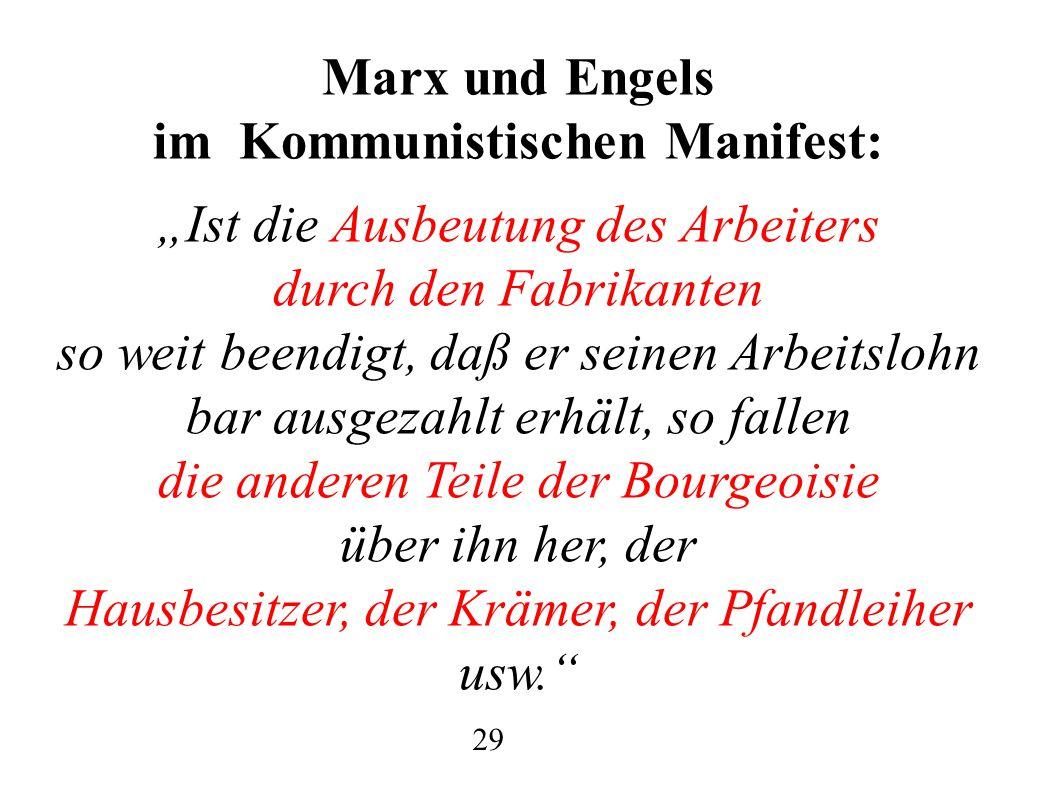 im Kommunistischen Manifest: