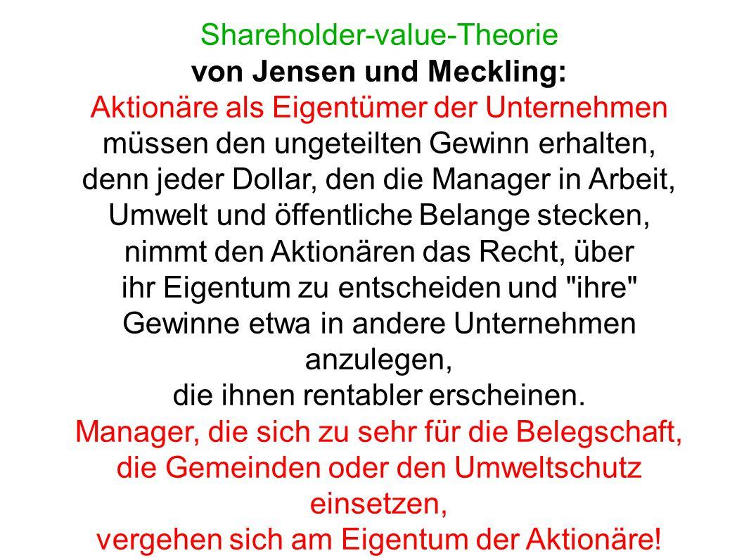 von Jensen und Meckling:
