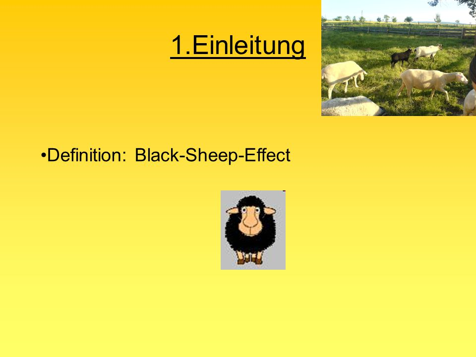 1.Einleitung Definition: Black-Sheep-Effect