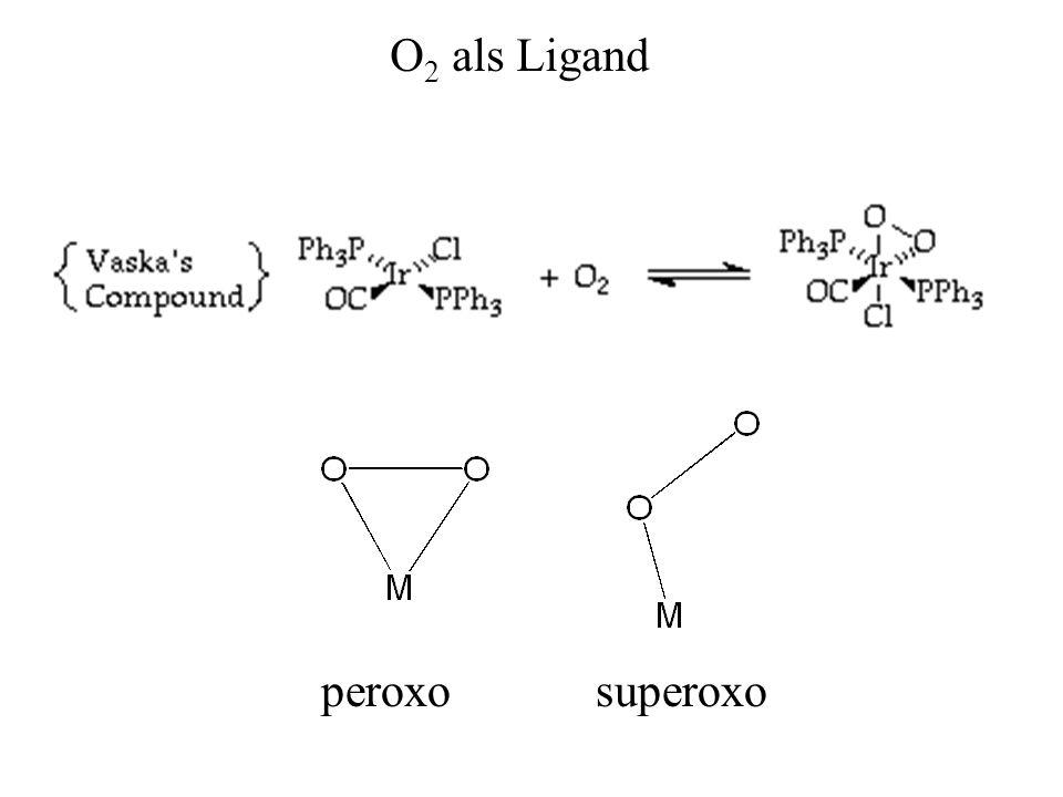 O2 als Ligand peroxo superoxo