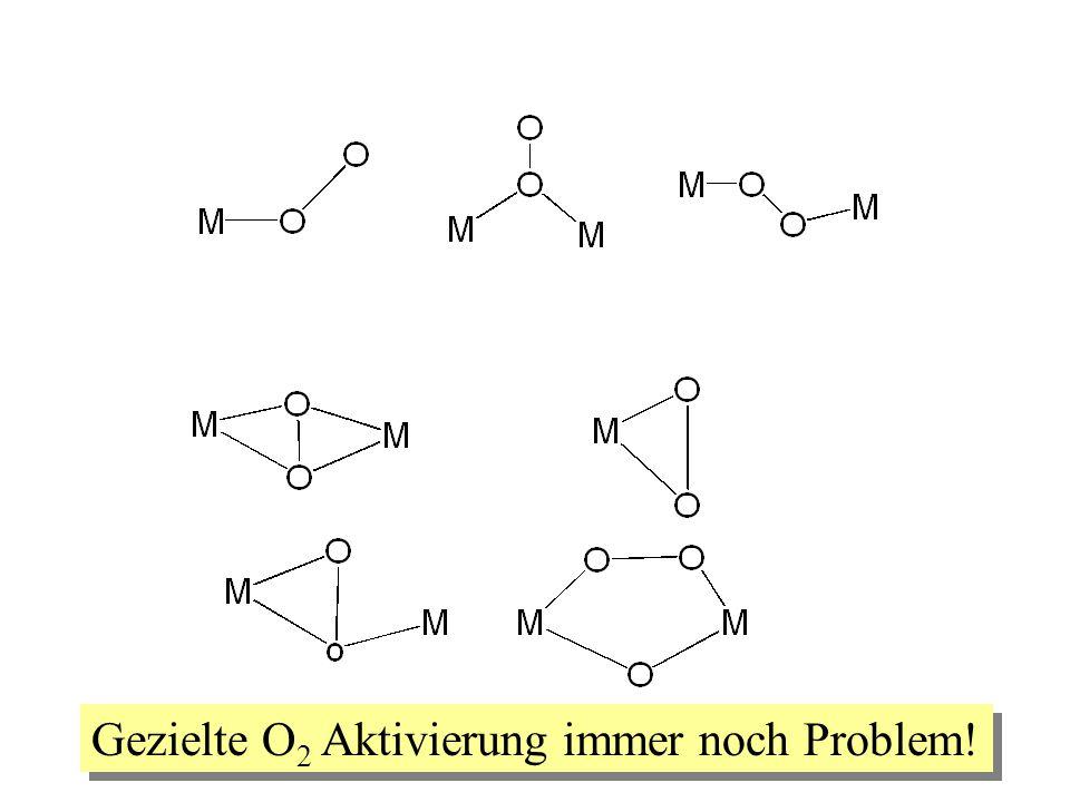 Gezielte O2 Aktivierung immer noch Problem!