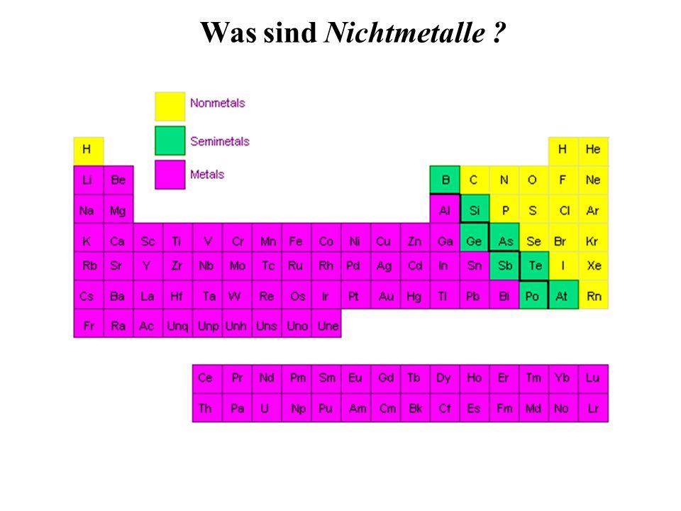 Was sind Nichtmetalle