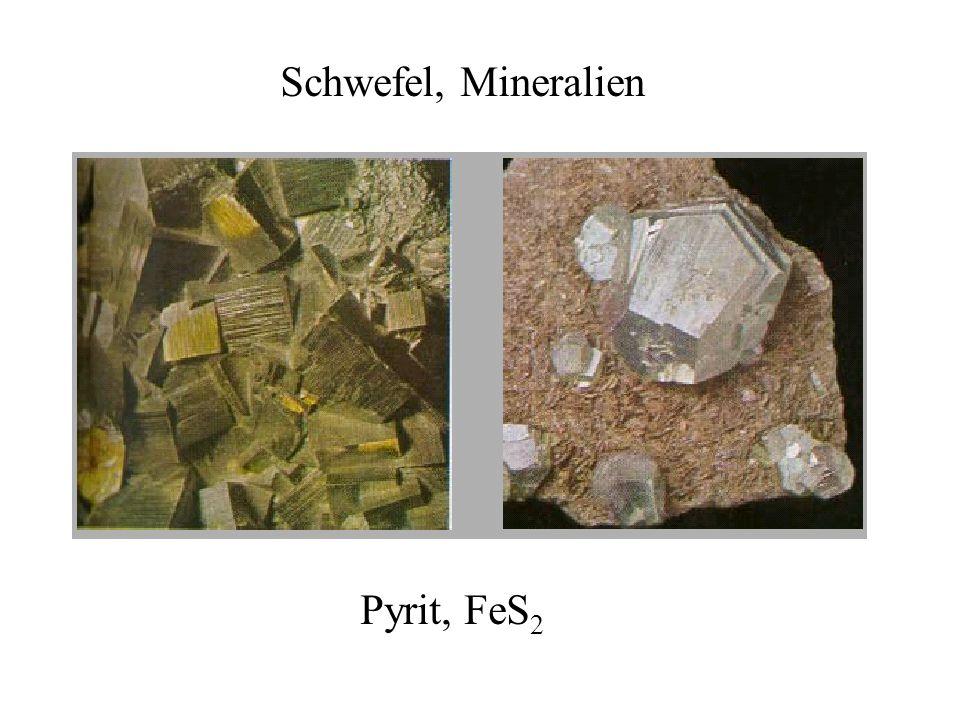 Schwefel, Mineralien Pyrit, FeS2
