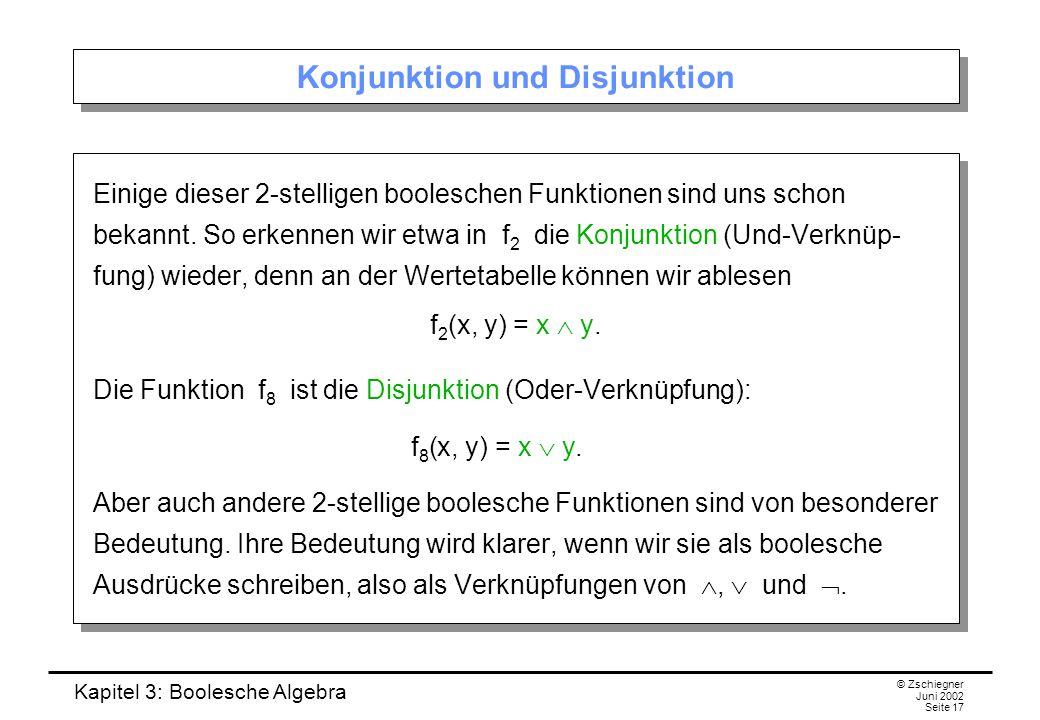 Konjunktion und Disjunktion