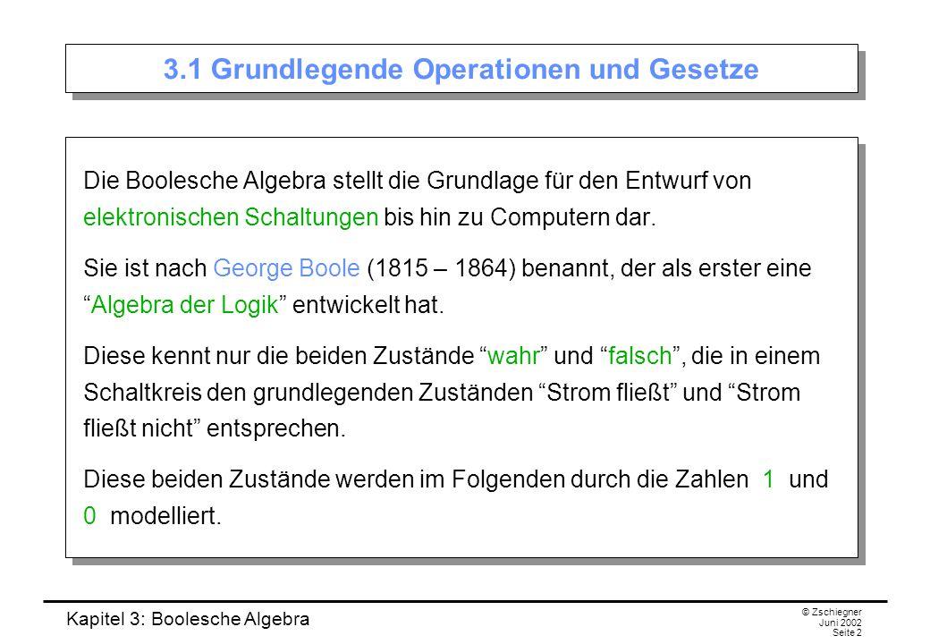 3.1 Grundlegende Operationen und Gesetze