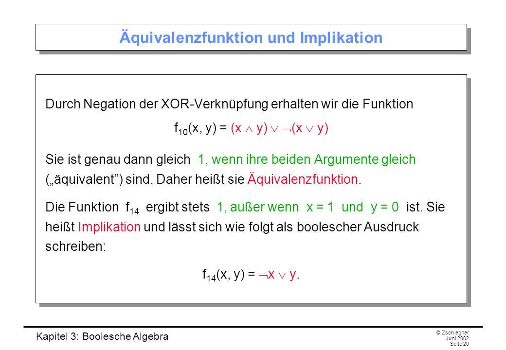 Äquivalenzfunktion und Implikation
