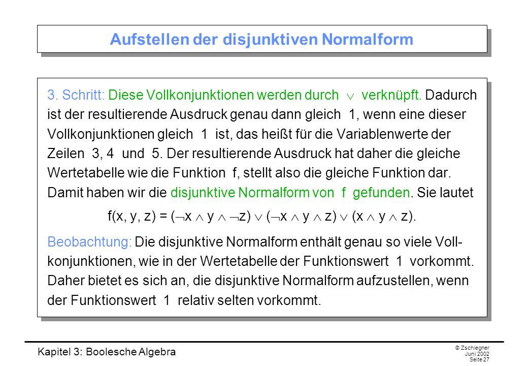 Aufstellen der disjunktiven Normalform