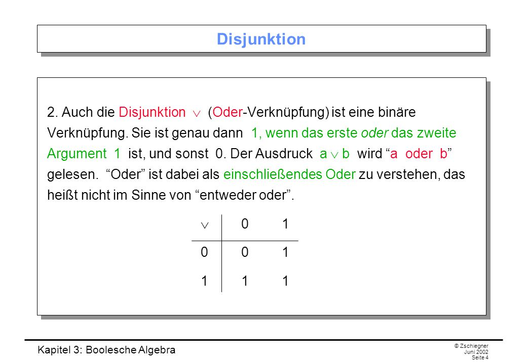 Disjunktion