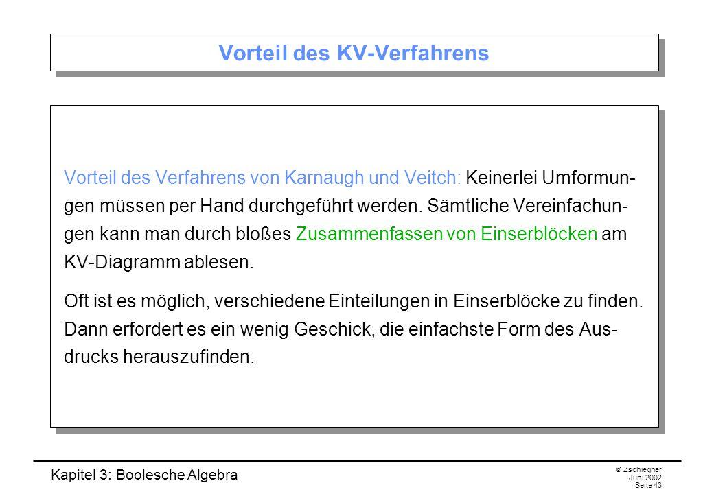 Vorteil des KV-Verfahrens