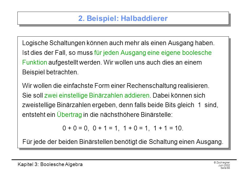 2. Beispiel: Halbaddierer