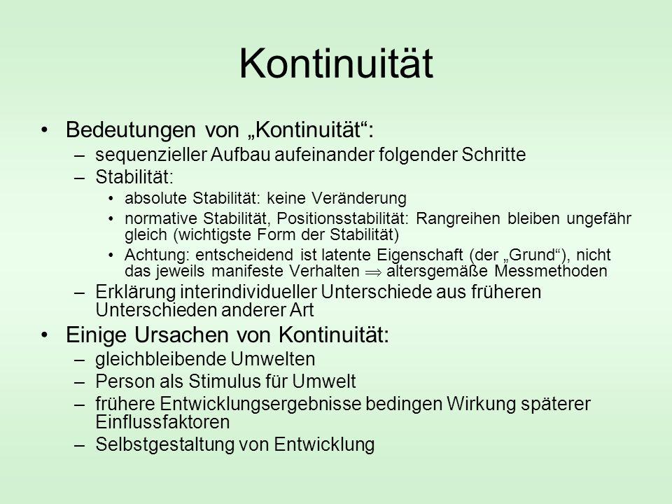 """Kontinuität Bedeutungen von """"Kontinuität :"""