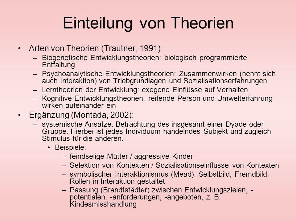 Einteilung von Theorien