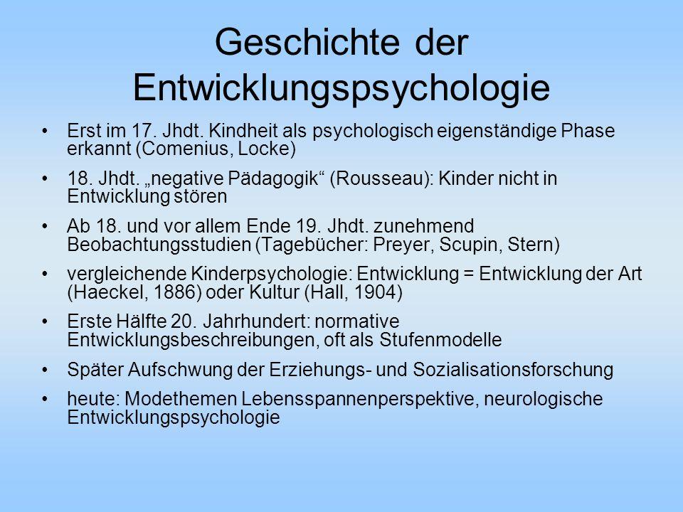 Geschichte der Entwicklungspsychologie