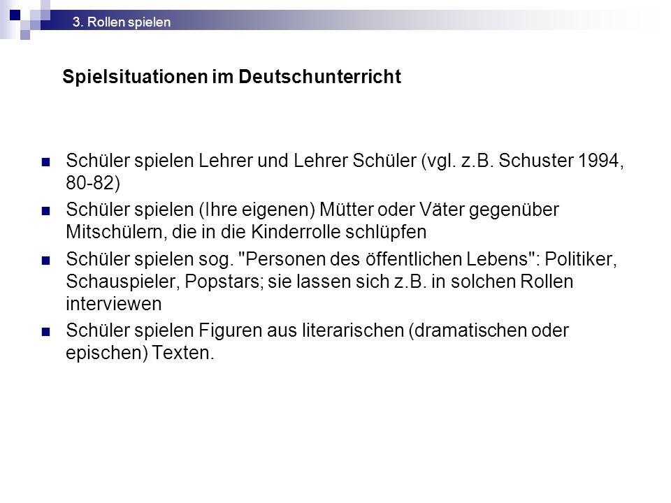 Spielsituationen im Deutschunterricht