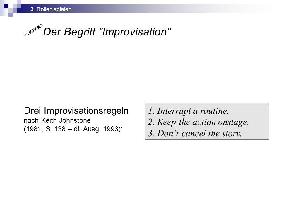  Der Begriff Improvisation