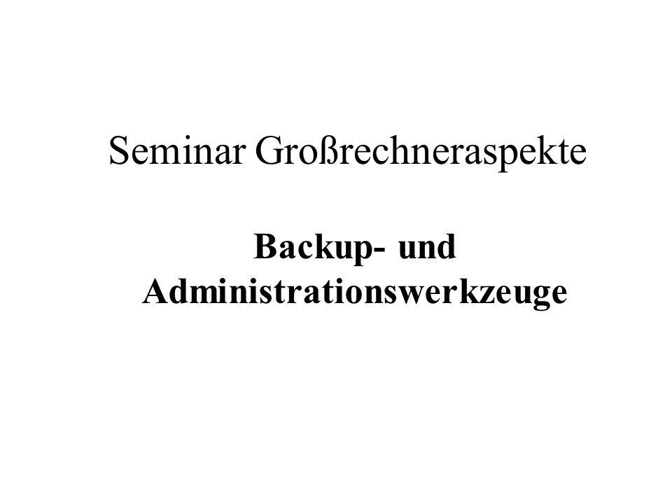 Seminar Großrechneraspekte