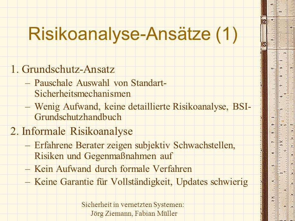 Risikoanalyse-Ansätze (1)