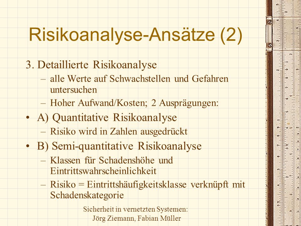 Risikoanalyse-Ansätze (2)