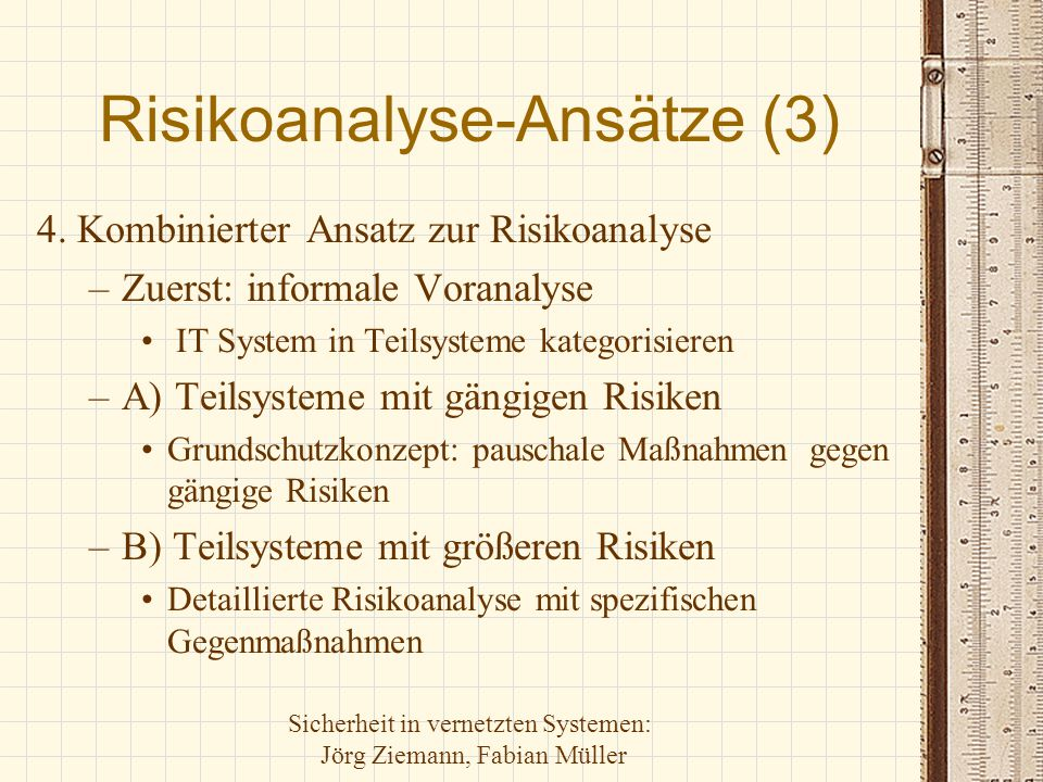 Risikoanalyse-Ansätze (3)