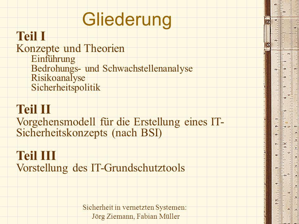 Gliederung Teil I Teil II Teil III Konzepte und Theorien