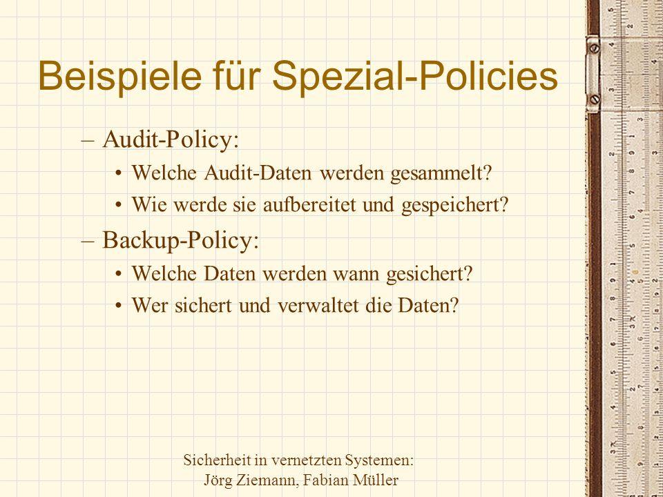 Beispiele für Spezial-Policies