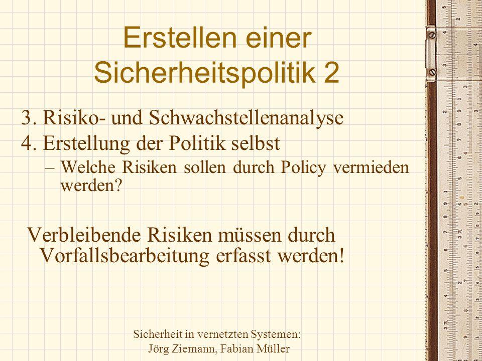 Erstellen einer Sicherheitspolitik 2
