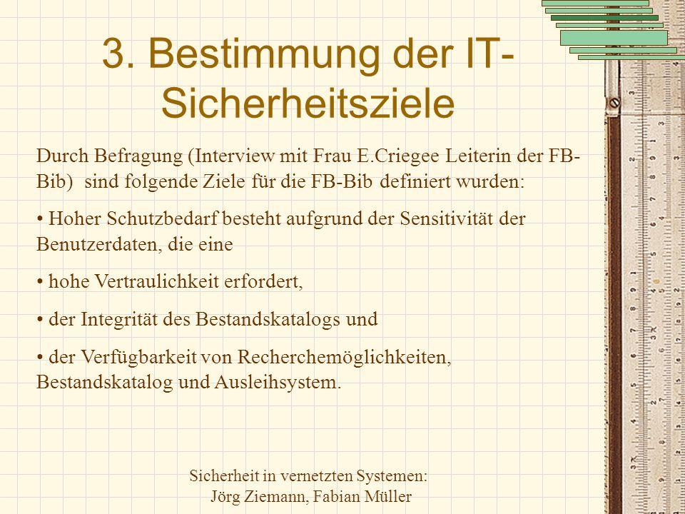 3. Bestimmung der IT-Sicherheitsziele