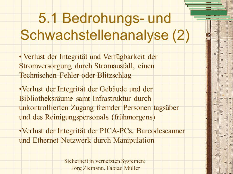 5.1 Bedrohungs- und Schwachstellenanalyse (2)
