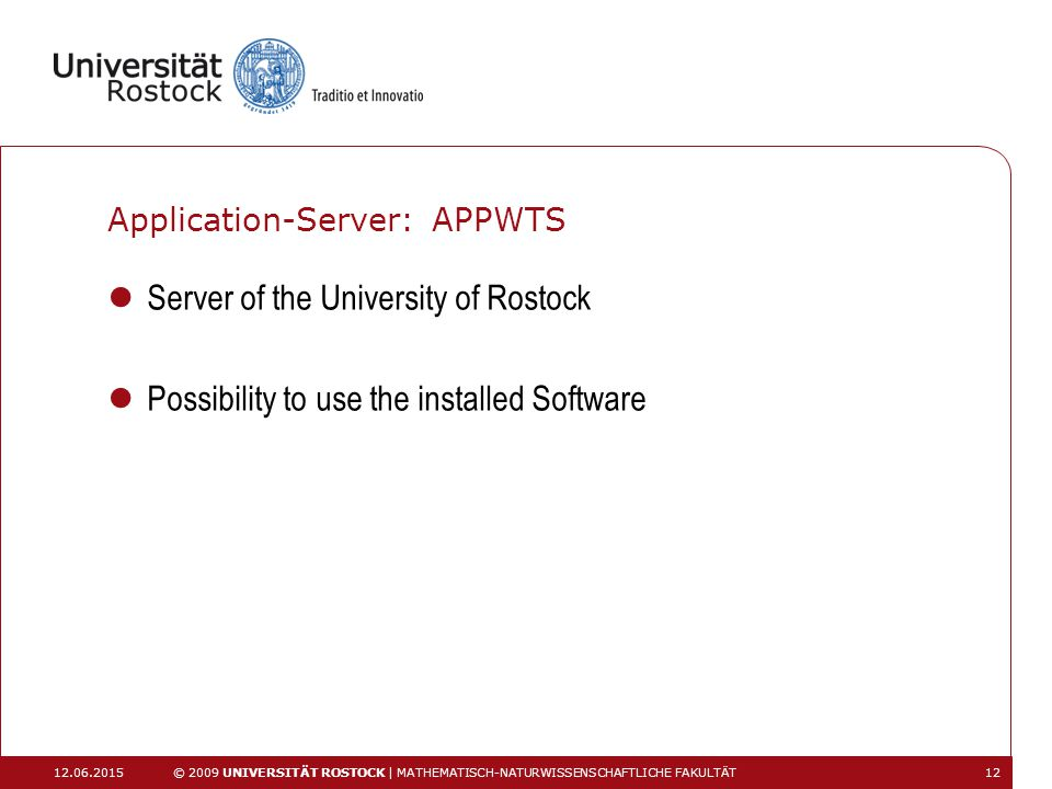 Application-Server: APPWTS