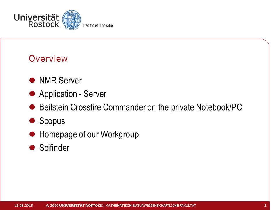 Beilstein Crossfire Commander on the private Notebook/PC Scopus