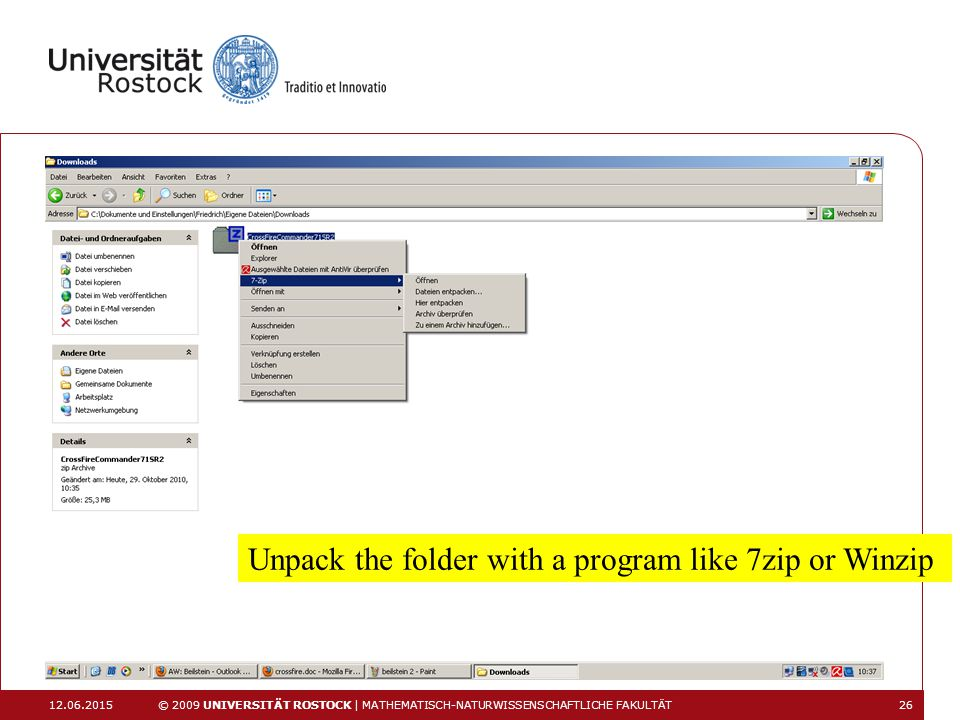 Unpack the folder with a program like 7zip or Winzip