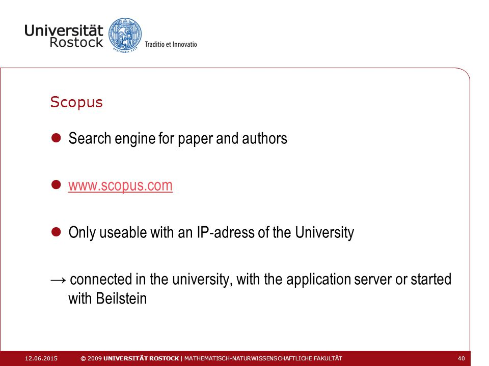 Search engine for paper and authors www.scopus.com