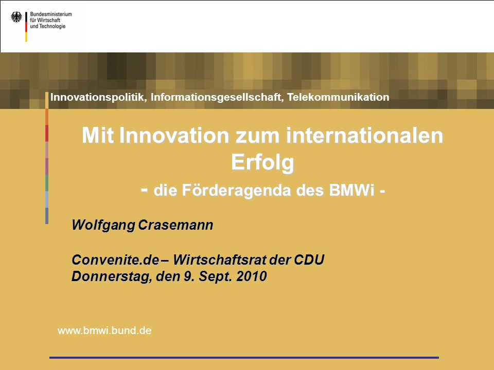 Mit Innovation zum internationalen Erfolg