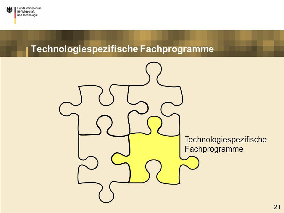 Technologiespezifische Fachprogramme