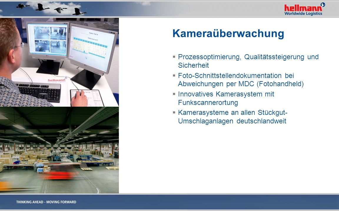 KameraüberwachungProzessoptimierung, Qualitätssteigerung und Sicherheit. Foto-Schnittstellendokumentation bei Abweichungen per MDC (Fotohandheld)