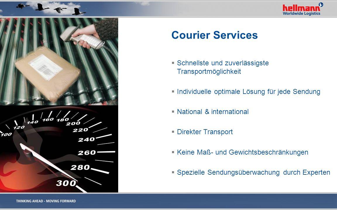 Courier Services Schnellste und zuverlässigste Transportmöglichkeit