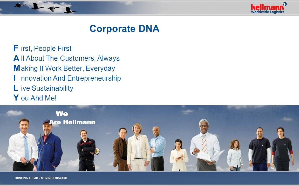 Corporate DNA F A M I L Y irst, People First
