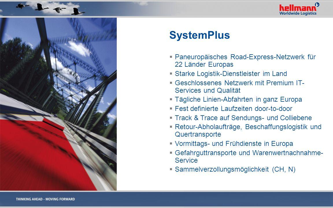 SystemPlus Paneuropäisches Road-Express-Netzwerk für 22 Länder Europas