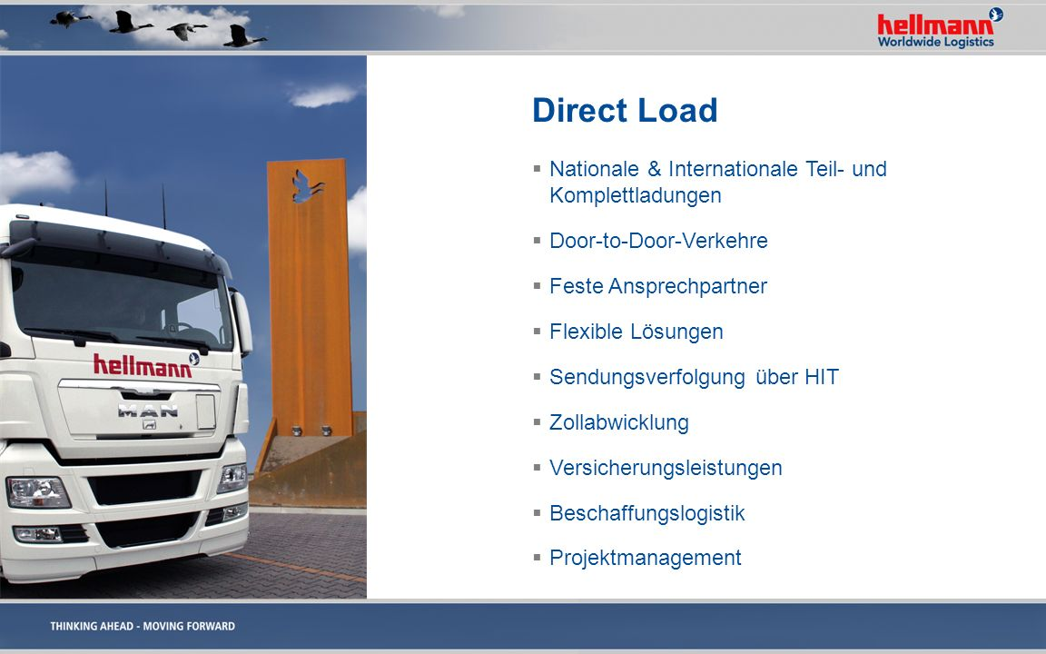 Direct Load Nationale & Internationale Teil- und Komplettladungen