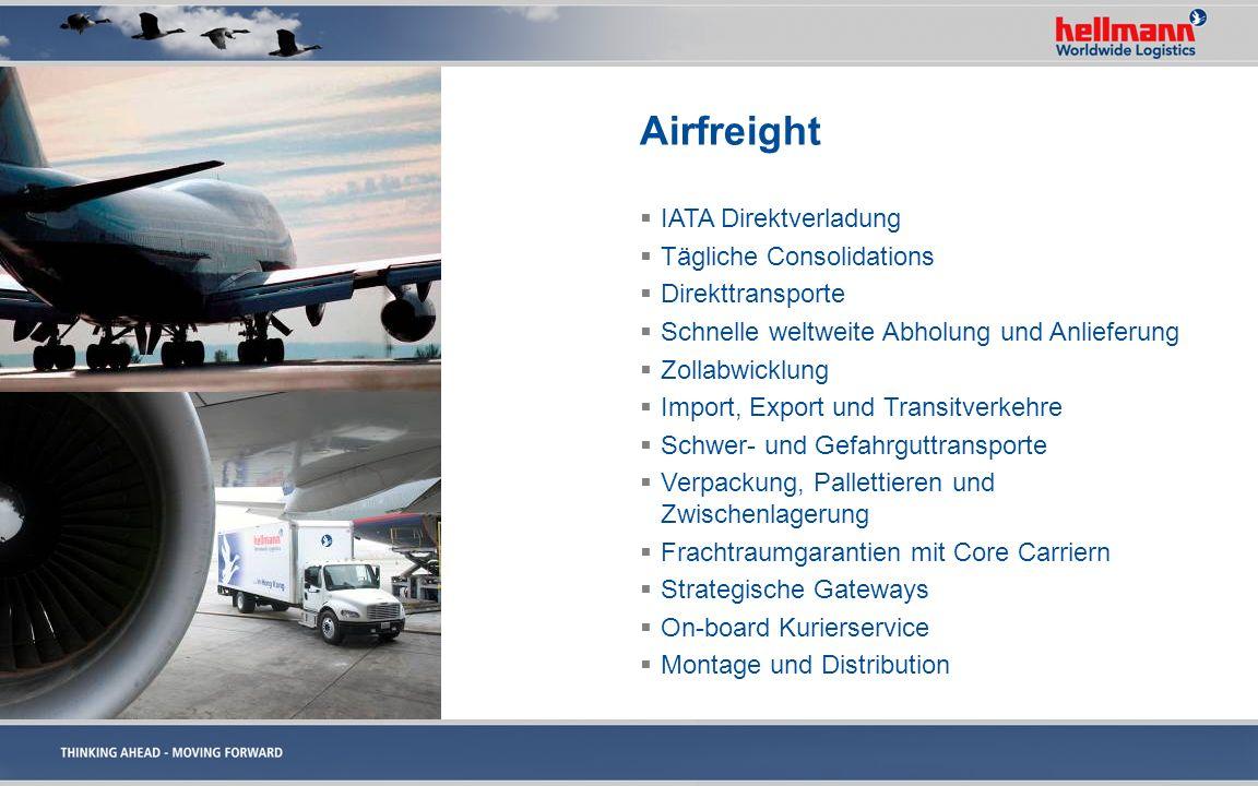 Airfreight IATA Direktverladung Tägliche Consolidations