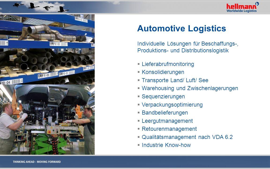 Automotive Logistics Individuelle Lösungen für Beschaffungs-,