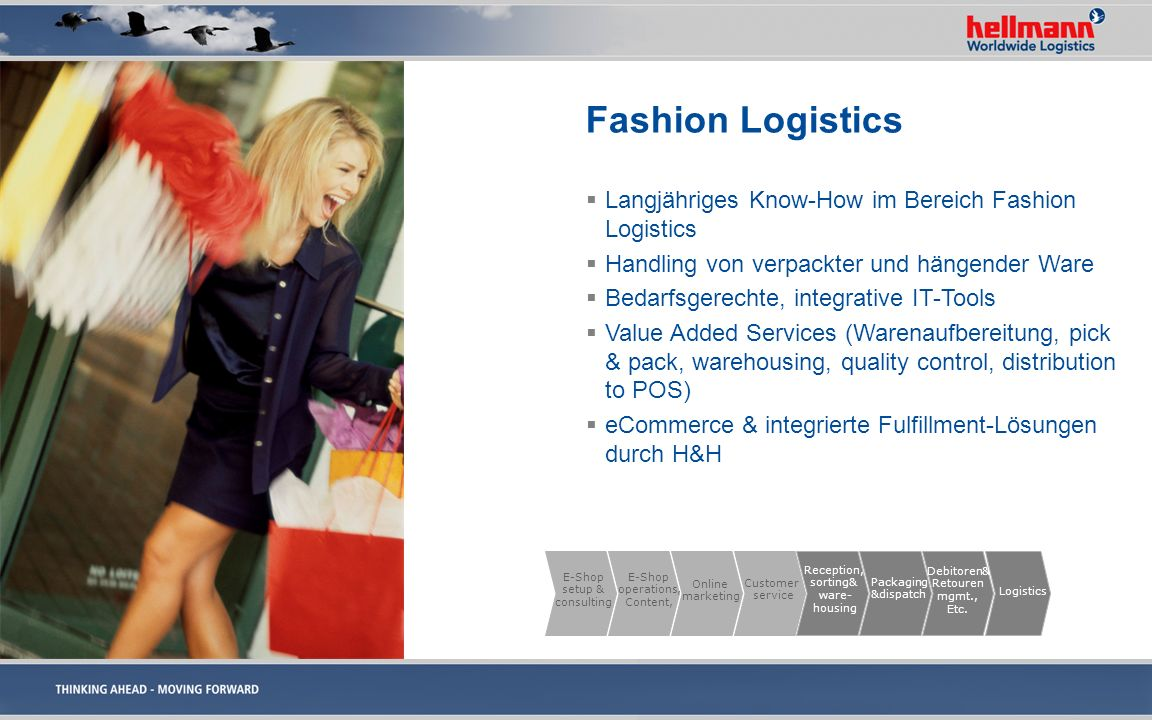 Fashion Logistics Langjähriges Know-How im Bereich Fashion Logistics