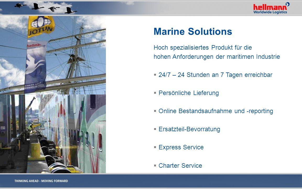 Marine Solutions Hoch spezialisiertes Produkt für die